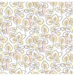 hand drawn eucalyptus seamless pattern vector image