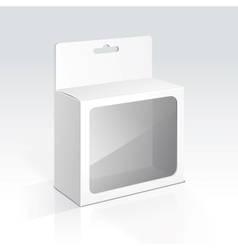 Hanging Blank Box with Transparent Window vector image