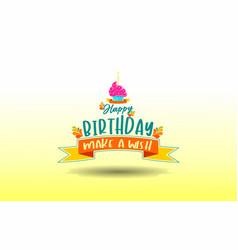 Happy birthday calligraphy hand lettering vector