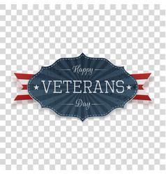 Happy veterans day american emblem template vector