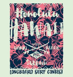 hawaiian style longboard surfing contest vector image