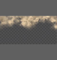 Heavy dust cloud realistic background vector