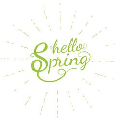Hello spring poster vector