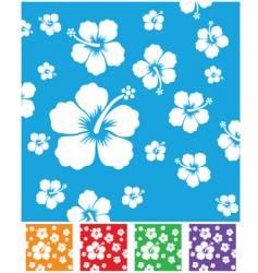 hibiscus pattern vector image