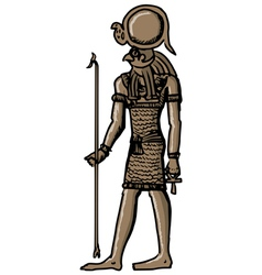 Horus - god of ancient Egypt vector image