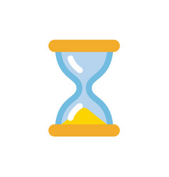 hourglass icon simple flat style sandglass vector image