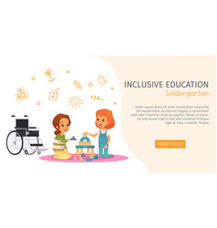 inclusion inclusive education banner vector image