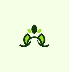 leaf growth naturally business modern logo vector image