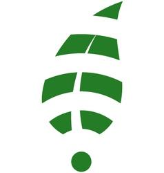 Leaf WiFi vector image