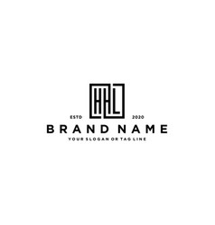 Letter hhl square logo design vector