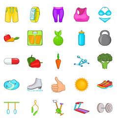 Lifestyle icons set cartoon style vector