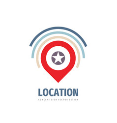 location concept logo template design geo point vector image
