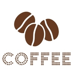 logo composition with coffee beans vector image