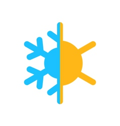 Logo symbol climate balance isolated on white vector