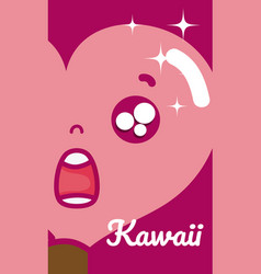 Lollipop cute kawaii vector