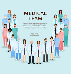 Medical team group doctors and nurses standing vector