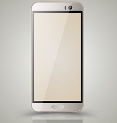 Mockup gold smartphone vector