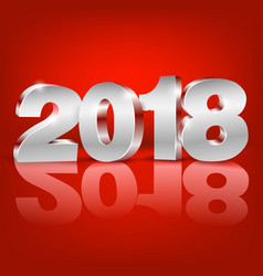 New year 2018 vector
