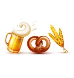 oktoberfest symbols beer vector image