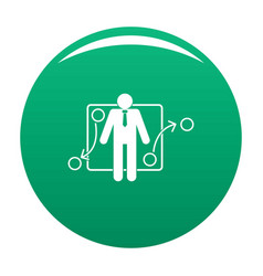 One businessman icon green vector