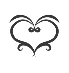 Ornamental heart icon Love design graphic vector