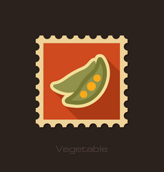 Pea flat stamp vegetable vector