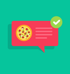 Pizza or food delivery or ready notification vector