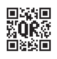 QR code abstract template vector