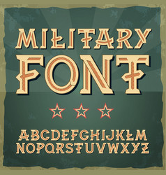 retro type font vintage typography vintage vector image
