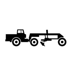 Road or motor grader long blade construction vector