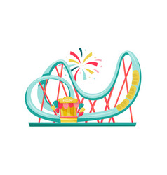 roller coaster and small ticket booth extreme vector image