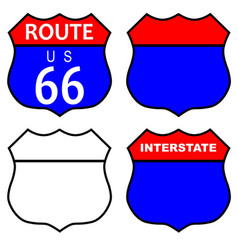 Route 66 interstate sign vector