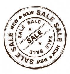 sale ink stamp grunge vector image