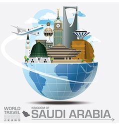 Saudi Arabia Landmark Global Travel And Journey vector