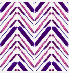 seamless pattern with watercolor ethnic zigzag vector image