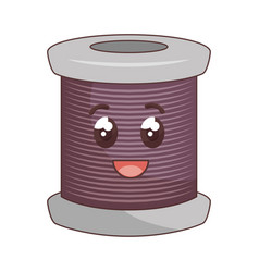 Sewing thread roll comic character vector