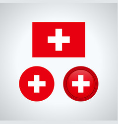 swiss trio flags vector image