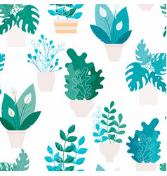 tiling botany house indoor vector image