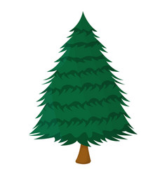 tree xmas isolated icon cartoon style for vector image
