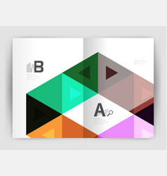 Triangle print template vector