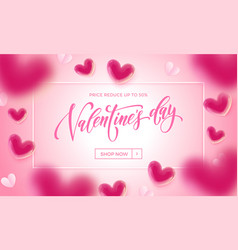 valentines day sale poster valentine balloon vector image