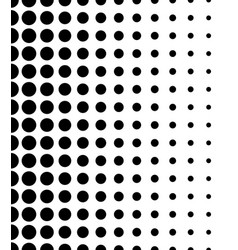 vertically seamless black and white dotted pattern vector image
