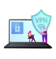 Virtual private network vpn concept website vector