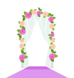 Wedding Arc Door with Flowers Romantic Element vector