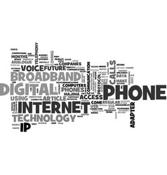 What is broadband phone text word cloud concept vector