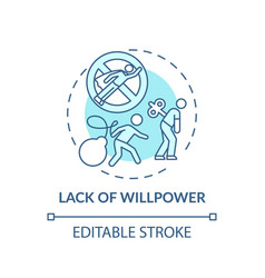 Willpower lacking concept icon vector