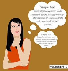 Woman think vector