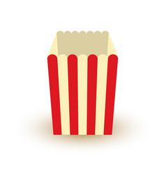 carton bowl empty of popcorn icon vector image vector image