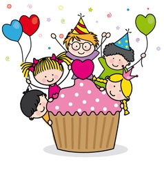 Celebrating birthday party vector image vector image