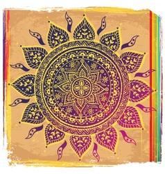 Ethnic purple ornament vector image